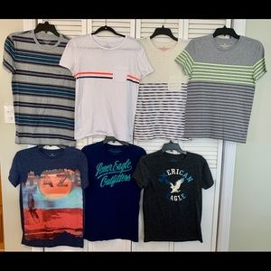 7 American Eagle Men's T-Shirt's All Size XS